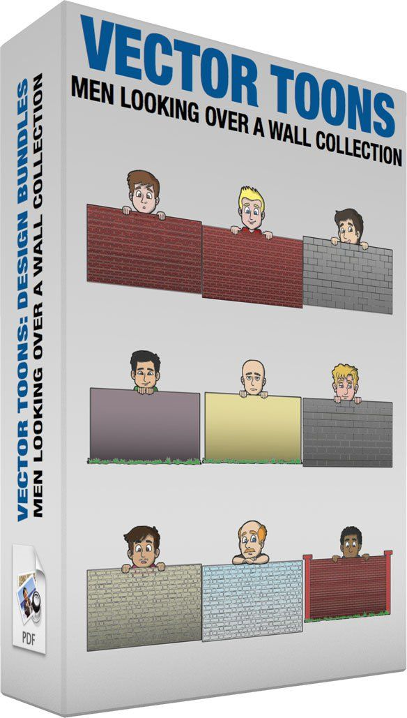Wall of men clipart clipart transparent library Men Looking Over A Wall Collection: Bundle of images ... clipart transparent library