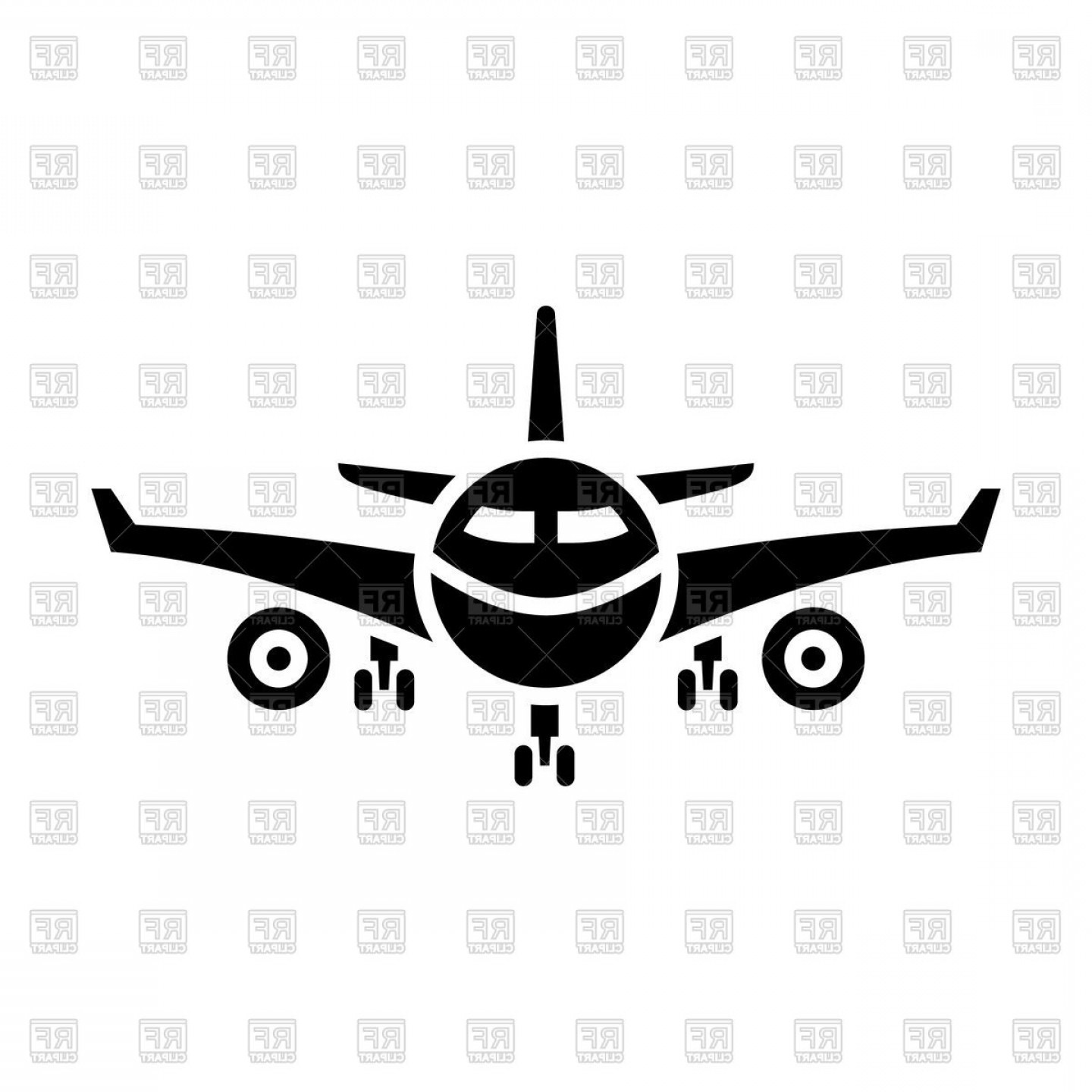 Wallet plane clipart clip art library library Airliner Icon Black Plane Sign On White Background Vector ... clip art library library