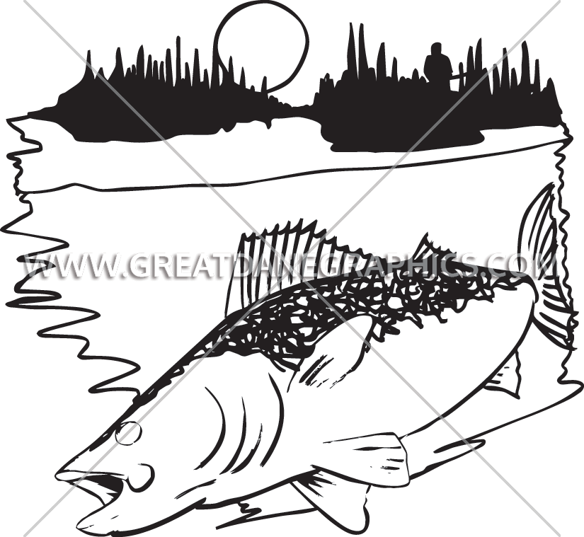 Walleye fish clipart vector black and white download Walleye   Production Ready Artwork for T-Shirt Printing vector black and white download