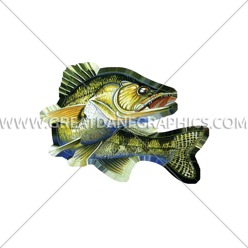 Walleye fish clipart vector library Walleye   Production Ready Artwork for T-Shirt Printing vector library