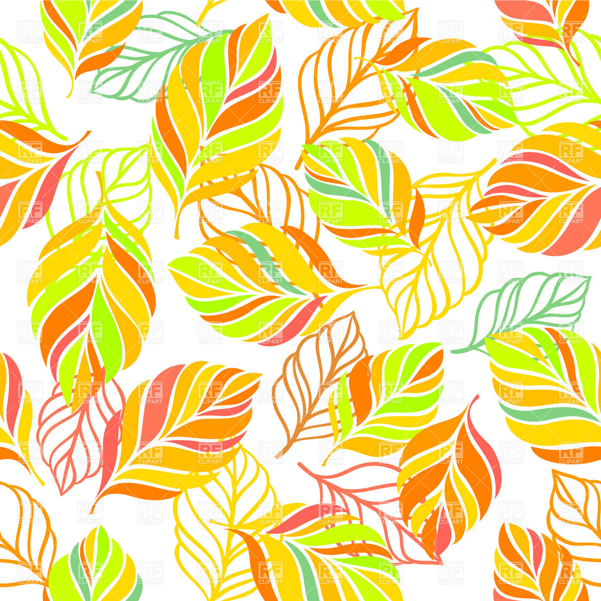 Wallpaper clipart free png transparent Colorful background with leaves - seamless autumn wallpaper Vector ... png transparent