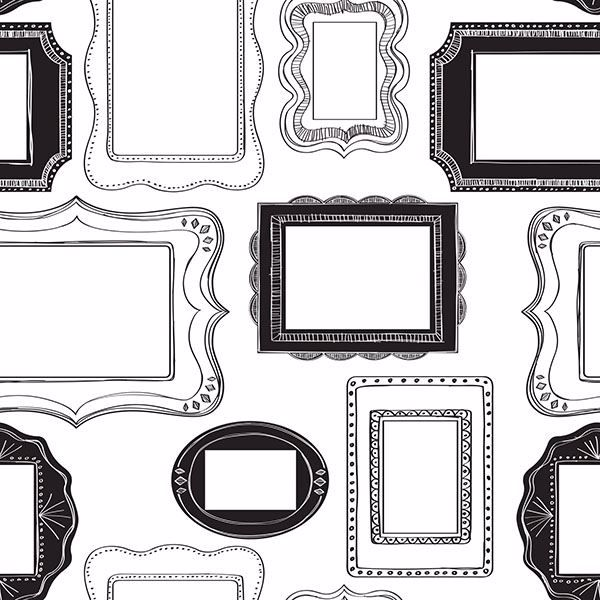 Wallpaper roll black clipart svg transparent Photo Opp Frames Peel And Stick Wallpaper svg transparent