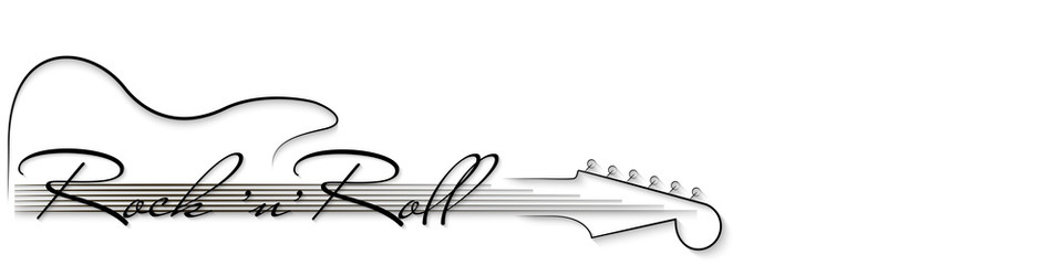 Wallpaper roll black clipart image free Black and white music background. Guitar and inscription ... image free
