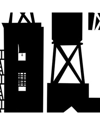 Wallpaper roll black clipart clip freeuse Great Deal on NYC Watertowers Wallpaper, Roll, Black clip freeuse