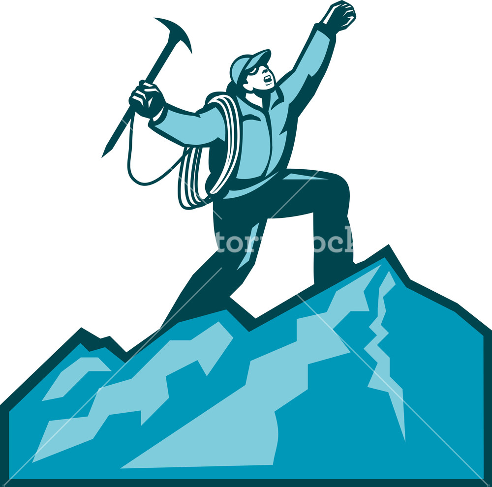 Wallpaper silhouette mountain climber summit free clipart clip art free library Mountain Climber Summit Retro Royalty-Free Stock Image ... clip art free library