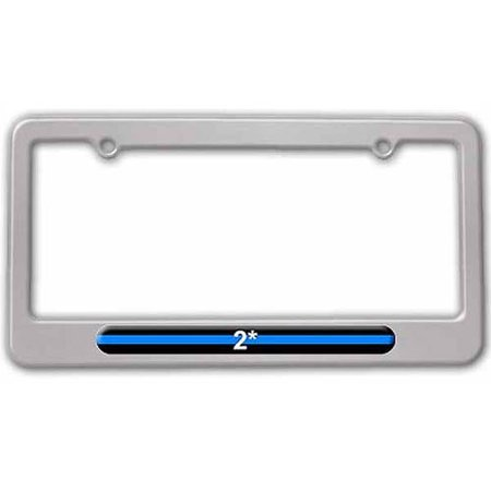 Walmart asterisk clipart graphic library Thin Blue Line 2 Two Asterisk K-9 Unit, Police License Plate Tag Frame,  Multiple Colors graphic library