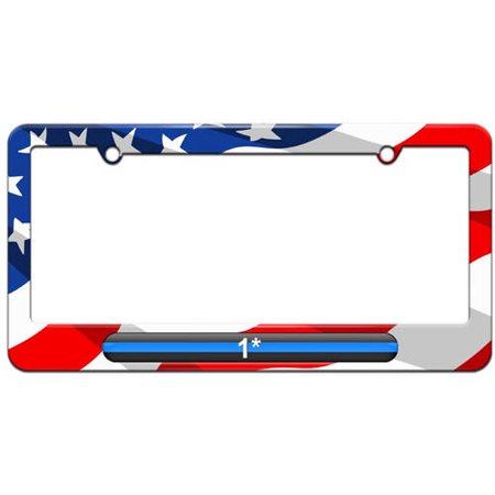 Walmart asterisk clipart graphic free Thin Blue Line 1 One Asterisk, Police License Plate Tag Frame, Multiple  Colors graphic free