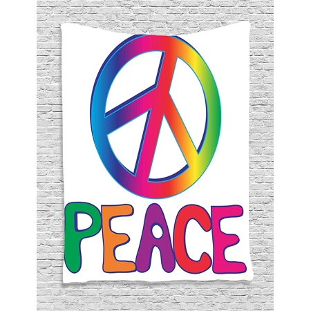 Walmart sign clipart vector free stock 1960s Decorations Collection, Peace Text with Peace Sign ... vector free stock