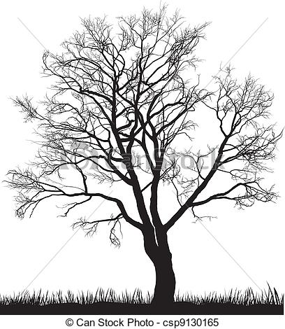 Walnut tree clipart clipart svg free stock Clipart Vector of Walnut tree in winter - Vector illustration of ... svg free stock
