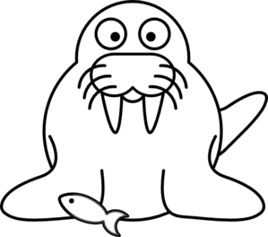 Walrus clipart outline clip freeuse library Walrus Outline Clip Art at Clker.com - vector clip art ... clip freeuse library