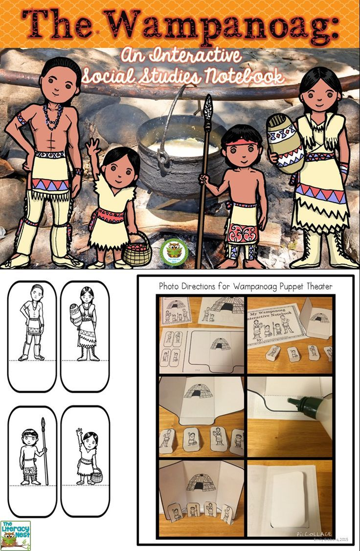 Wampanoag indians clipart vector free Wampanoag Interactive Notebook | TpT Social Studies Lessons ... vector free