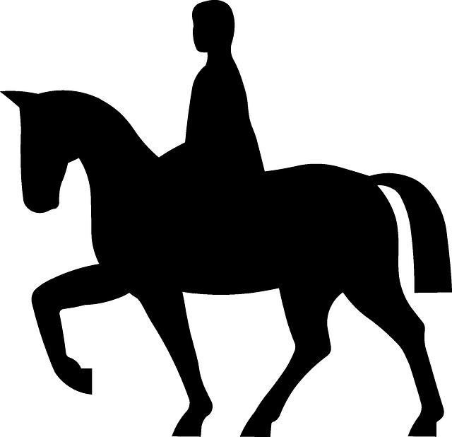Wampanoag riding horse clipart