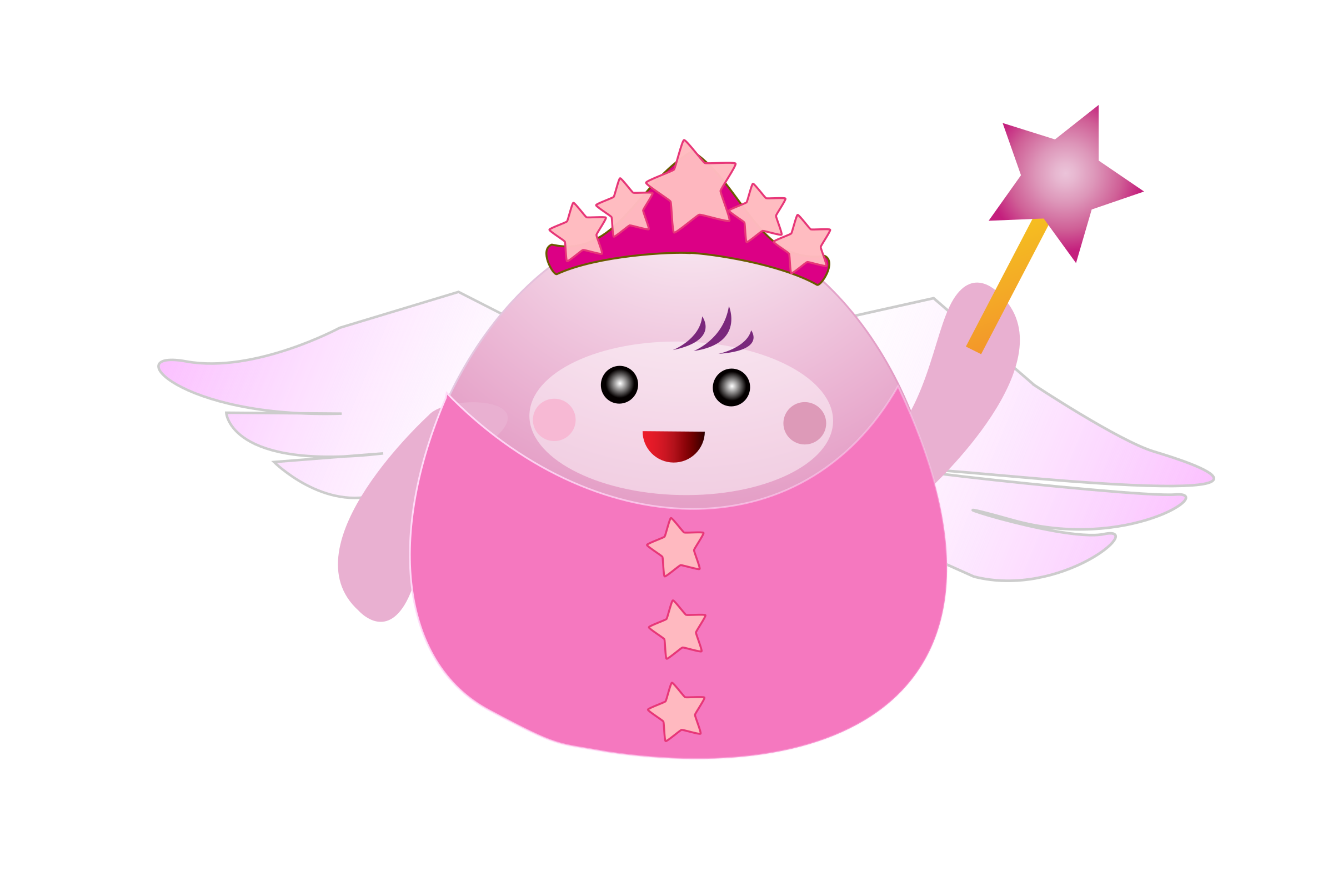 Wand clipart vector free picture library Pink Fairy with Wand Vector Clipart image - Free stock photo ... picture library