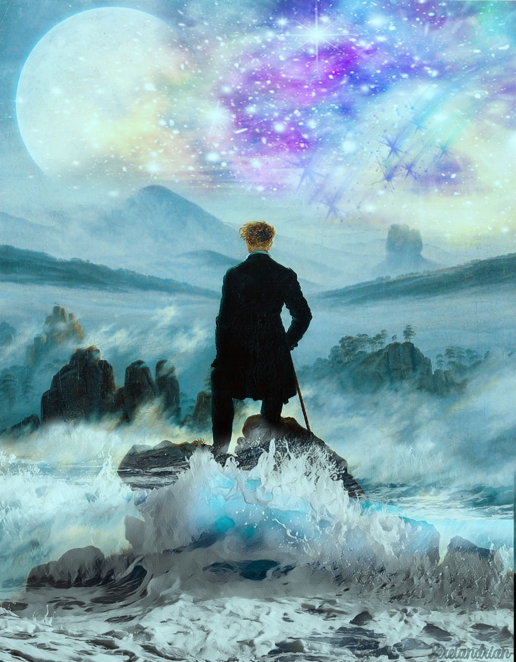 Wanderer above the sea of fog clipart clipart transparent library Edit of \