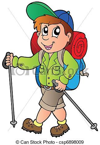 Wanderer mit rucksack clipart vector freeuse stock Wanderer Illustrationen und Clip-Art. 55.782 Wanderer ... vector freeuse stock