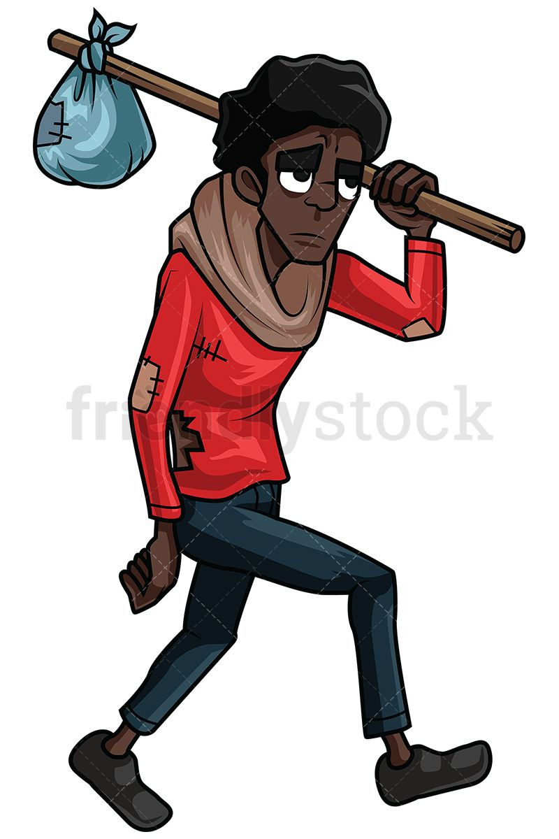 Wandering scientist clipart graphic black and white Wandering Homeless Black Man   插画 in 2019   Man vector ... graphic black and white