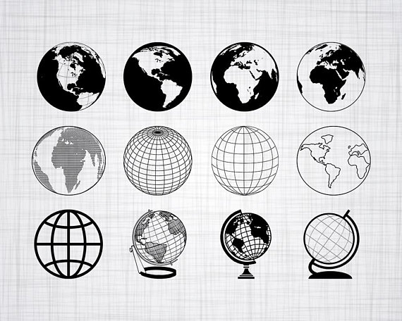 Wanderlust globe clipart free clipart freeuse Globe SVG Bundle, Globe SVG, Globe Clipart, Globe Cut Files ... clipart freeuse