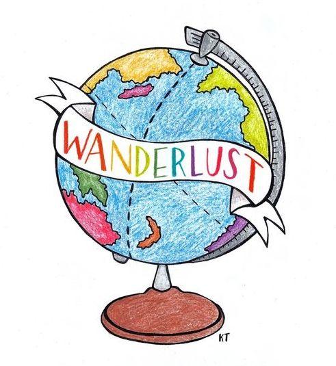 Wanderlust globe clipart free png stock wanderlust | Artsy | Globe drawing, Tumblr transparents ... png stock