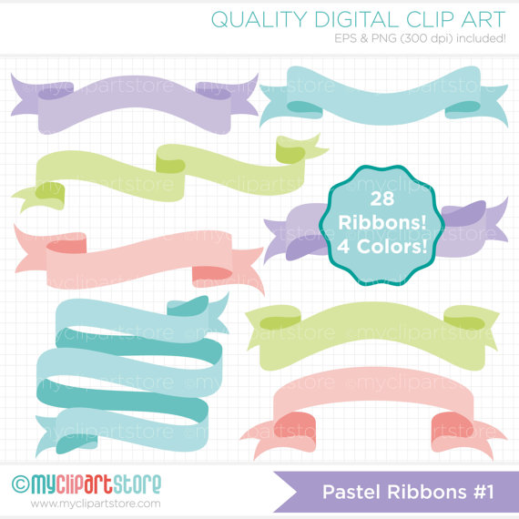 Want ad free clipart banners image stock Ribbons - Pastel Banners Clipart - Blog Header Banners Clip ... image stock