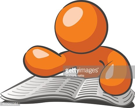 Want ads clipart clipart black and white library Orange Man Browsing Want Ads premium clipart - ClipartLogo.com clipart black and white library