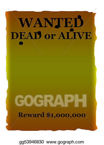 Wanted dead or alive clipart png free download Stock Illustration - Wanted dead or alive poster. Clipart ... png free download