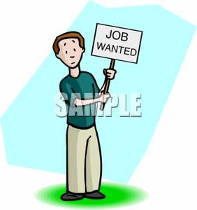 Wanted man clipart clip library download A Man Holding A Job Wanted Sign - Royalty Free Clipart Picture clip library download