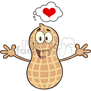 Wanting clipart image royalty free stock 8739 Royalty Free RF Clipart Illustration Funny Peanut Cartoon Mascot  Character Thinking Of Love And Wanting A Hug Vector Illustration Isolated  On ... image royalty free stock