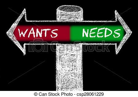 Wants needs clipart image black and white stock Wants and needs clipart 4 » Clipart Portal image black and white stock