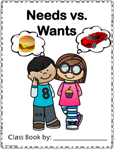 Wants needs clipart svg royalty free stock Class Book - Wants and Needs svg royalty free stock