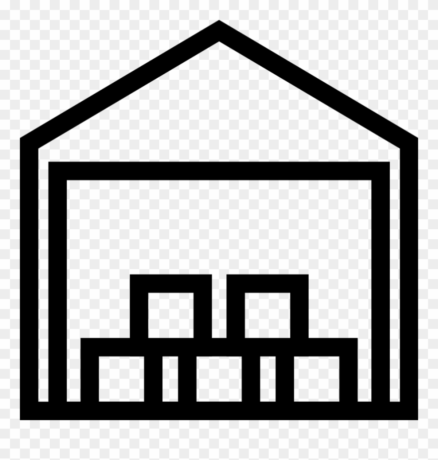 Warehouse clipart black and white clipart black and white stock Warehouse Clipart (#22711) - PinClipart clipart black and white stock