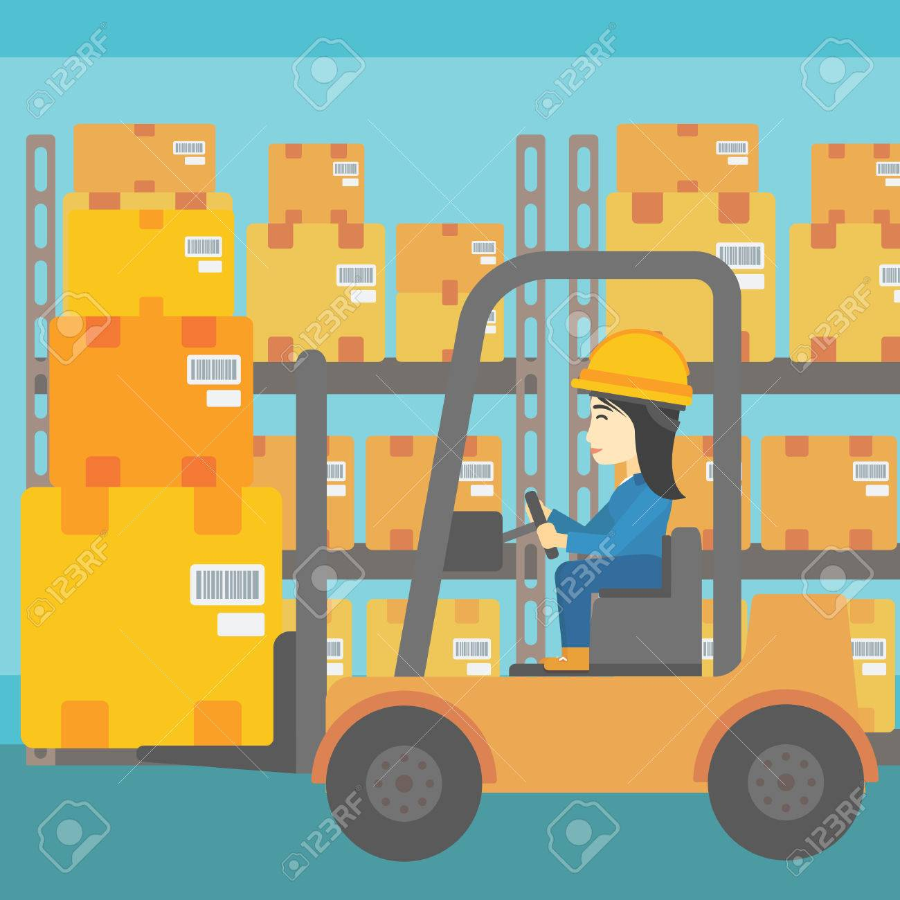 Warehouse driver clipart banner library stock Forklift clipart warehouse worker - 112 transparent clip ... banner library stock