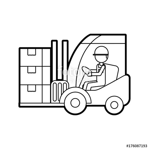 Warehouse driver clipart image freeuse warehouse worker loading cardboard boxes forklift driver at ... image freeuse
