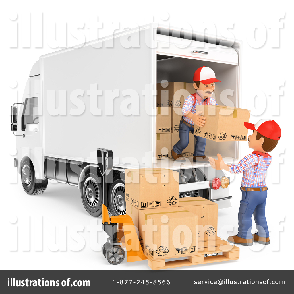 Warehouse driver clipart banner royalty free download Shipping Clipart #1446637 - Illustration by Texelart banner royalty free download