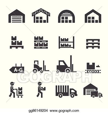 Warehouse icon clipart svg free Vector Art - Warehouse icon. Clipart Drawing gg86149204 ... svg free