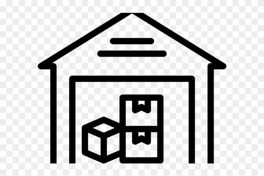 Warehouse icon clipart png black and white Warehouse Clipart Icon - Warehouse Icon Png, Transparent Png ... png black and white