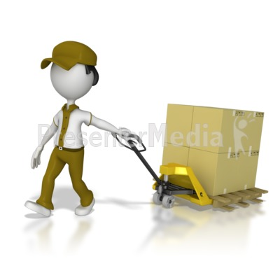 Warehouse worker clipart clip art black and white Warehouse Worker Moving Product - Presentation Clipart ... clip art black and white