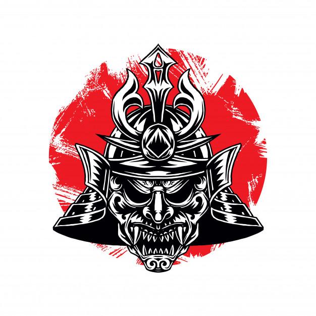 Warhelm clipart image royalty free stock Samurai warrior war helm Vector   Premium Download image royalty free stock