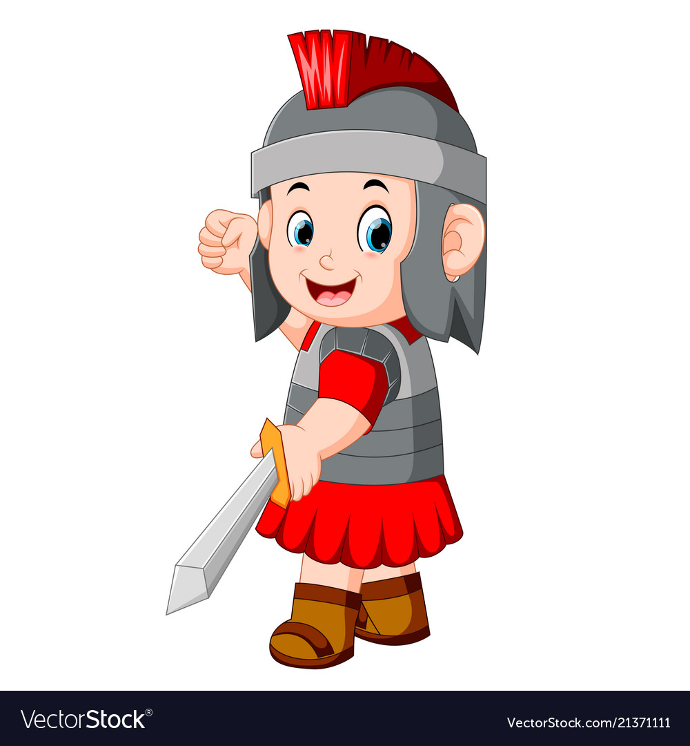 Wariorkids clipart image freeuse Ancient warrior or gladiator posing over image freeuse