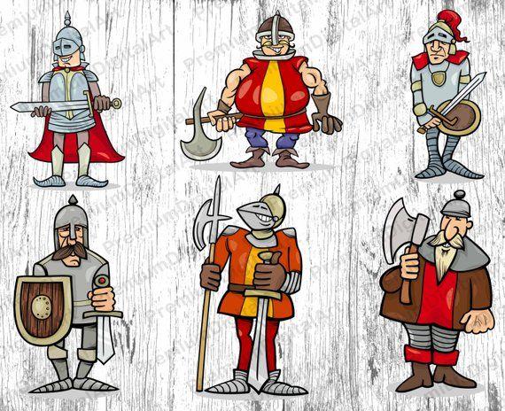 Wariorkids clipart clip art transparent 6 Cartoon Warrior, Knight, Viking, Kids clipart, Kids ... clip art transparent
