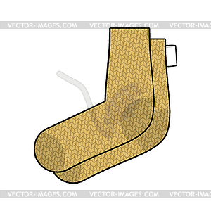 Warm feet clipart svg royalty free stock Knitted wool socks . Warm feet Accessory - vector clipart svg royalty free stock