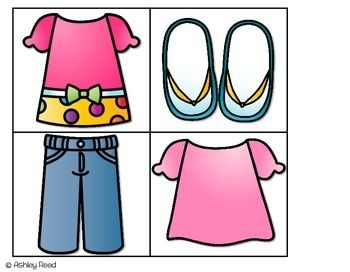 Warm spring clothes clipart image library library Hot and Cold Weather Clothing Sort FREEBIE | Kids activities ... image library library