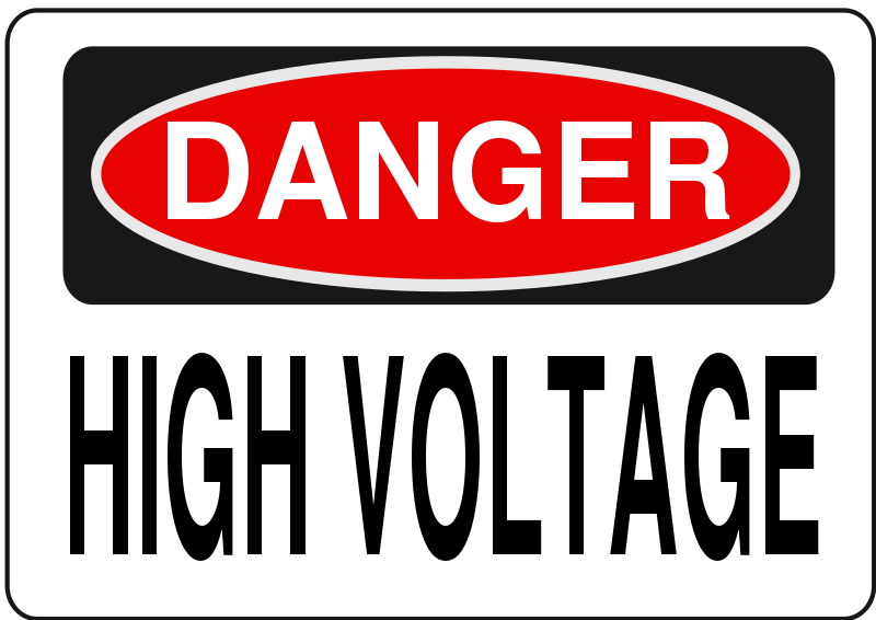 Warning high voltage clipart image freeuse library Free Clipart: Danger - High Voltage (Alt 3) | Rfc1394 image freeuse library