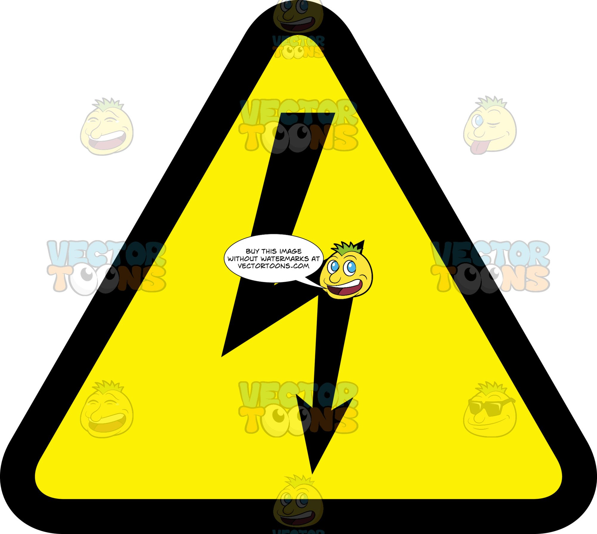 Warning high voltage clipart clip stock High Voltage Warning Sign clip stock