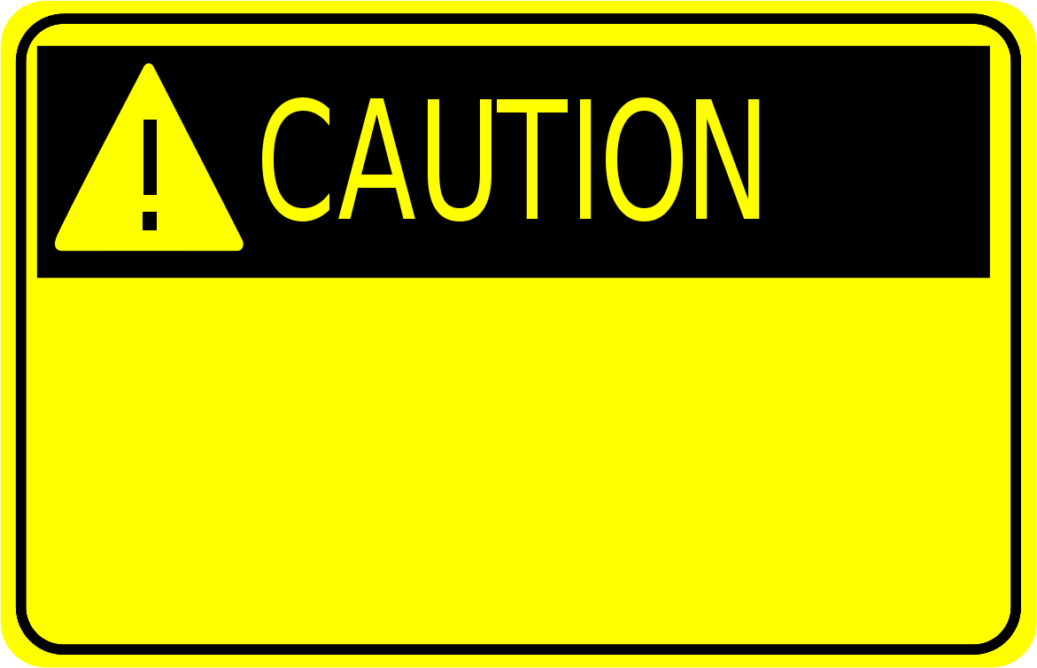 Warning rectangle board clipart banner free stock Caution Sign Clipart | Clipart Panda - Free Clipart Images banner free stock