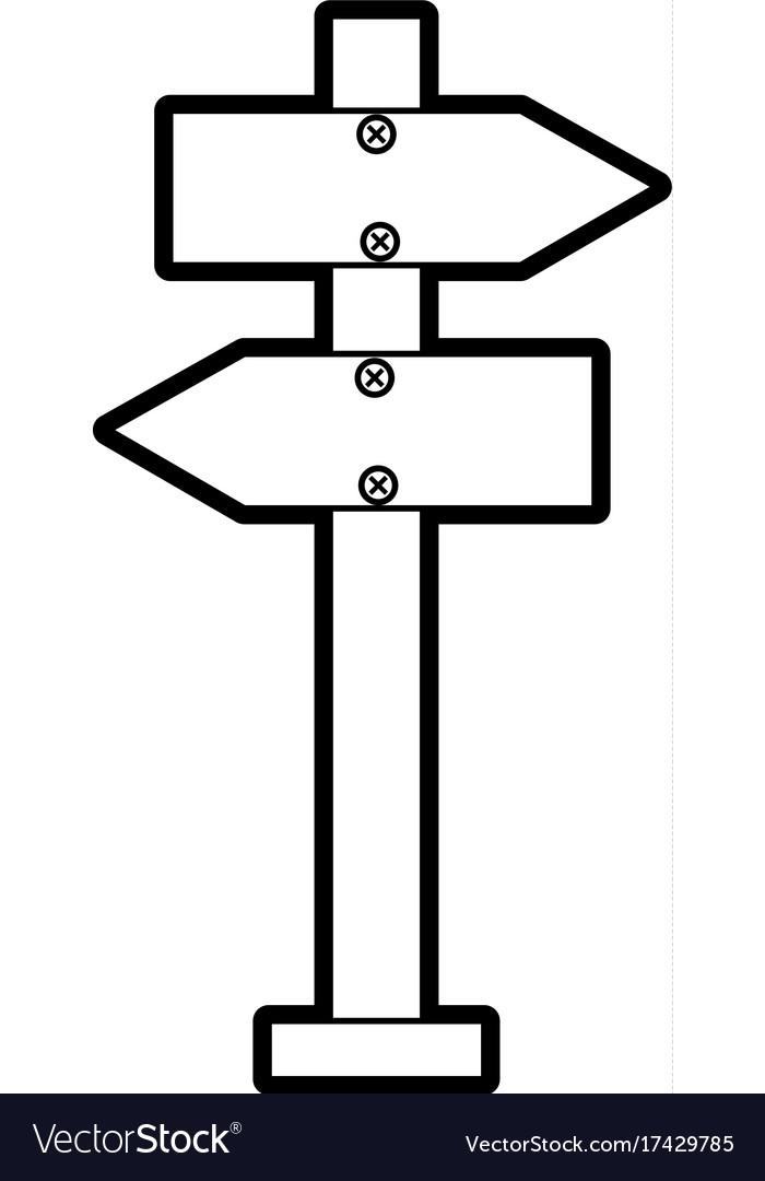 Warning rectangle board clipart clip art freeuse Wooden blank warning sign board vector image on VectorStock clip art freeuse