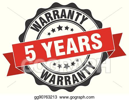 Warranty logo clipart graphic stock Vector Clipart - 5 years warranty stamp. sign. seal. Vector ... graphic stock