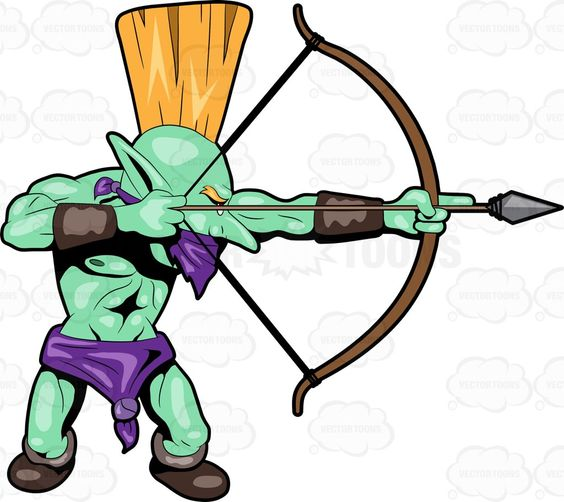 Warrior arrow clipart images clip black and white stock A Troll Warrior Using His Bow And Arrow | Cartoon, Caves and ... clip black and white stock