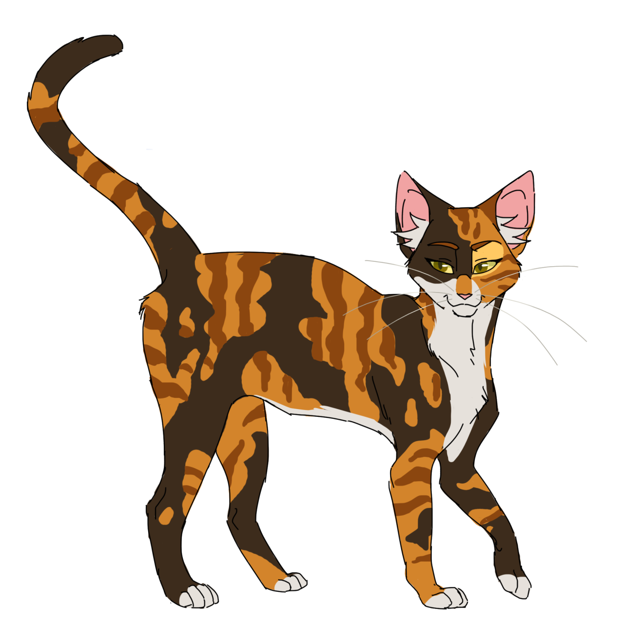 Warrior cat clipart vector transparent Warrior Cats Designs — 100 Warrior Cats Challenge #10: Spottedleaf ... vector transparent