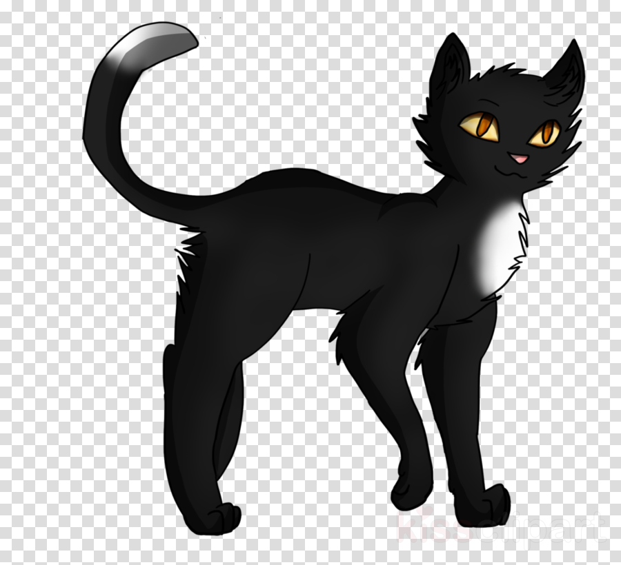Warrior cats ravenpaw clipart picture Book Black And White clipart - Cat, Black, Kitten ... picture