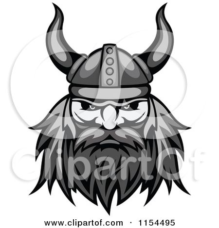 Warrior face clipart clipart library Clipart of an Aggressive Grayscale Viking Warrior Face 2 ... clipart library